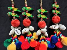 Cowrie Shell Tassel Purse & Handbag Decoration Pom Pom