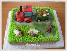 Dort s traktorem 3 - fotoalba ulivatelu - D? Birthday Cakes, Fondant, Desserts, Food, Tractor, Anniversary Cakes, Tailgate Desserts, Fondant Icing, Deserts
