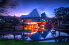 The Glass Pyramids of Epcot | Flickr - Photo Sharing!