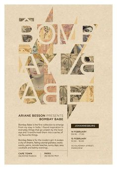 Creative Babe, Bombay, Grid, Poster, and Typography image ideas & inspiration on Designspiration Poster Ads, Typography Poster, Graphic Design Inspiration, Creative Inspiration, Page Design, Book Design, Photocollage, Layout, Minimalist Poster