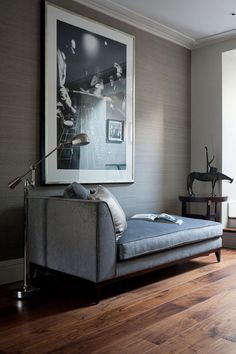 desire to inspire - desiretoinspire.net - Staffan Tollgard extra - grasscloth wallpaper, chaise