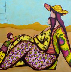 Franck Ayroles Fat Art, Painting People, Fat Women, French Artists, Mother And Child, Pattern Art, Figurative Art, Whimsical, Image