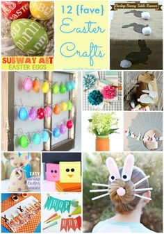 Easter crafts roundup, and that bunny tail table runner needs to be mine! @Emily Schoenfeld Hill