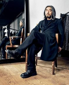 // Yohji Yamamoto: I post so many of his designs I figured I should post a pic of the man himself.