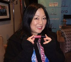 """We are so thrilled to see our girl, Margaret Cho, wearing Seoul Mate Luxury Gloss (doesn't it look amazing on her!) for her interview on Larry King Now """"PoliticKING"""". Margaret has been such an inspiration to me for many many years. As an Asian-American women she is constantly breaking down stereotypes and following her own path in life. It's such an honor to have her wear our products. Tune in tonight to watch her and see how gorgeous she looks wearing Christina Choi Cosmetics💄💋😊"""