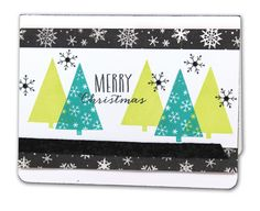 Trendy Merry Christmas Trees Card - click through for project instructions.