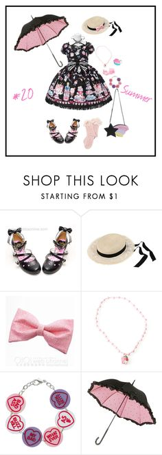 """""""Lolita Fashion 50 v2: Summer"""" by snowshi ❤ liked on Polyvore featuring Maison Michel and claire's"""