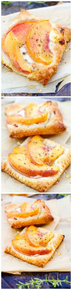 Delicious Peach Tarts with Goat Cheese and Honey!