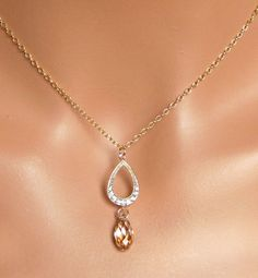 FREE SHIPPING Golden Shadow Gold Champagne by AuroraJewelryBox, $38.00