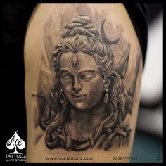 Take a look at some of our Lord Shiva Tattoos Designed at Ace Tattooz & Art Studio.One can express their love for him by getting Lord Shiva Tattooed.