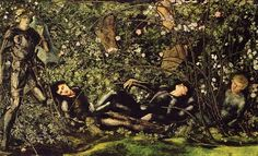 Pre Raphaelite Art: Edward Burne-Jones - The Prince entering the Briar Wood
