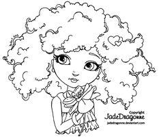 Little Flower - Lineart by JadeDragonne.deviantart.com on @deviantART