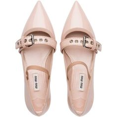 Miu Miu BALLERINA (2 325 PLN) ❤ liked on Polyvore featuring shoes, flats, t-strap mary janes, mary-jane shoes, flat shoes, t-strap flats and mary jane flats