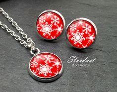 Schmuckset silber ❅ Schneeflocke II ❅ von Stardust Accessoires auf DaWanda.com