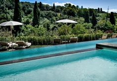 The pool at Il Salviatino Luxury Hotel Florence Tuscany