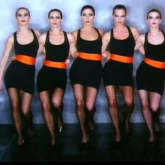 Robert Palmer Girls. They were like watching pop art in action.