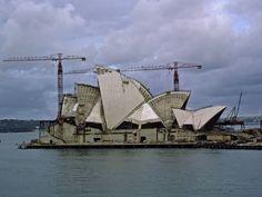 1966 - Sydney Opera House under construction Australia 2017, Melbourne Australia, Gaudi, Old Pictures, Old Photos, Opera House Architecture, Architecture Organique, Sydney New South Wales, Jorn Utzon