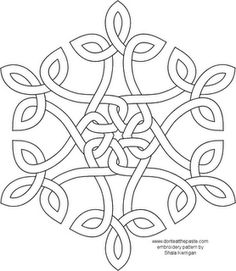 Celtic Knot Snowflake - centre part with kids names around it