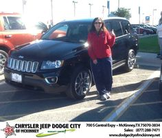 My sales person, Joe Ferguson, was excellent!! Handled all the paperwork, answered all of my questions, and was very helpful with the entire process of buying my Compass. Very professional throughout the process. I would definitely buy another car thru Joe!! - Eva Lawson, Saturday, November 02, 2013 http://www.dodgecityofmckinney.net/?utm_source=Flickr&utm_medium=DMaxxPhoto&utm_campaign=DeliveryMaxx