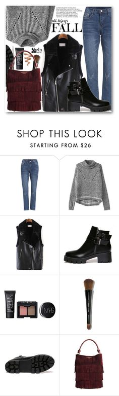 """All things fall"" by pokadoll ❤ liked on Polyvore featuring Hedi Slimane, NARS Cosmetics, Bobbi Brown Cosmetics, Burberry, Sheinside and shein"
