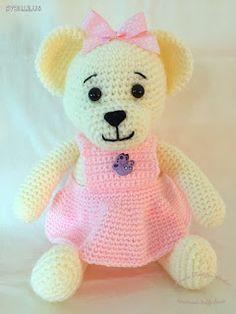 Irmi's Teddy-Atelier : My new crocheted teddy bear, the Vanilla bear. For more information come to my blog  irmisteddyatelier.blogspot.com