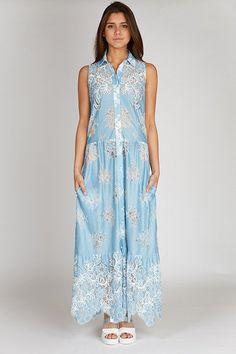 lace dress blue #stylish #pretty #goingout #valeriekhalfon