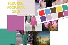 Mode kleuren lente zomer 2018. Wat zijn de trends in modekleuren voor de dames mode en kleding dit voorjaar en hoe kan je ze combineren.