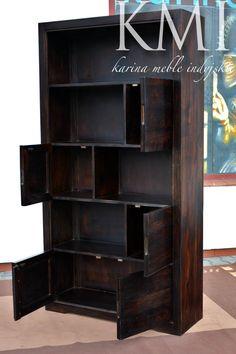 meble kolonialne - meble indyjskie - meble drewniane - biblioteczka - meble nowoczesne - do gabinetu -  meble warszawa