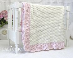 Buy original design crochet baby blanket patterns and easy knitting baby blanket patterns as well as DIY baby accessories like baby booties, baby hats and more for great baby shower gifts and treasured keepsakes you make yourself. Easy Crochet Blanket, Knitted Baby Blankets, Chunky Crochet, Crochet Blanket Patterns, Baby Patterns, Manta Crochet, Crochet Baby, Cardigan Bebe, Blankets For Sale