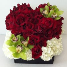 cute valentine idea.   Better than the basic dozen roses but maybe something other than orchids
