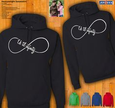 Couples Hoodies  Us Till Infinity by 77Teez on Etsy