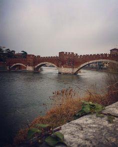 Verona ...-Riverside-.........#walk#igersveneto#marzoinveneto#river#riverside#old#oldschool#rainyday#romantic#italy#italia#italian#igersitalia#paint#painting#antique#history#photographer#architecture#amazing#loveit#clouds#colors#vsco#veneto#verona#vscocam#bridge#travel by rchiddoraf
