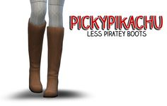 Pickypikachu: Less Piratey Boots - EA's Pirate Boots De-Cuffed