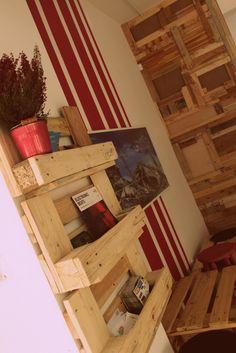 wooden shelf of euro pallets by Wood Republic
