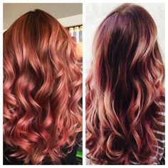Rose Gold Copper Hair | Hair Color Inspiration and Formulation: Copper Rose Gold | StyleNoted