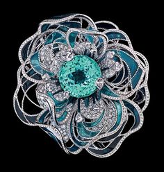 Chanel tourmaline brooch