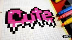 Handmade Pixel Art - How To Make Nice Graffiti .- Handgemachte Pixel-Kunst – wie man nette Graffiti zeichnet – Handmade pixel art – how to make nice graffiti draws – - Graph Paper Drawings, Graph Paper Art, Cute Drawings, Graffiti Art, Graffiti Drawing, Perler Beads, Perler Bead Art, Pixel Art Kawaii, Sharpie Zeichnungen