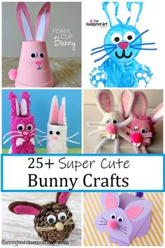 When it comes to kids spring crafts and Easter crafts, rabbit crafts are always popular. These 25 bunny crafts are sure to be hits. Rabbit Crafts, Sheep Crafts, Cup Crafts, Bunny Crafts, Spring Crafts For Kids, Easter Crafts For Kids, Toddler Crafts, Easter Ideas, Craft Activities For Toddlers