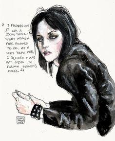 Joan Jett - Lucas David illustration
