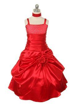 Possible pageant dress Pagent Dresses, Satin Dresses, Formal Dresses, Pageant Wear, Pageant Girls, Red Flower Girl Dresses, Little Girl Dresses, Baby Dresses, Girls Designer Dresses