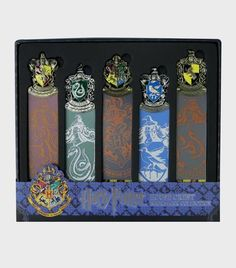 Bookmark Collection - House Crests | The Harry Potter Shop at Platform 9 3/4 Harry Potter Shop, Crests, Middle Earth, Fantastic Beasts, Bookends, Artwork, Platform, Shopping, Collection