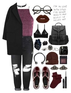 """""""look around"""" by ai-m ❤ liked on Polyvore featuring Topshop, Charlotte Russe, INC International Concepts, ASOS, Monki, Krochet Kids, Wet Seal, Mimco, Forever 21 and NARS Cosmetics"""