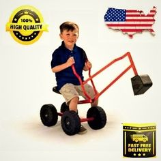 eef22ce407e9b Sandbox Digger Big Wheel Ride on for Beach Backyard or Playground Sand Pit  for sale online | eBay