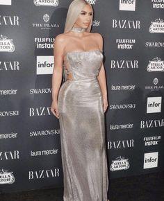 @kimkardashian: Versace at the Harper's Bazaar Icons Party