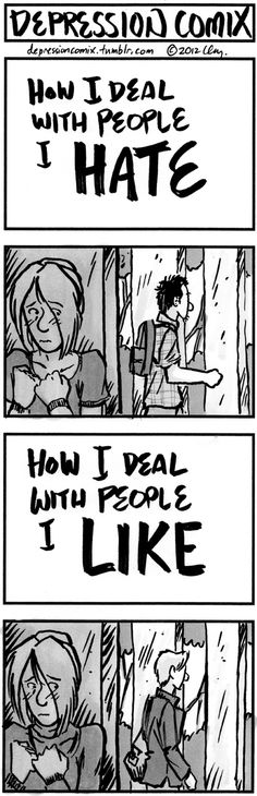 - - - oh no, another hurtingly relatable depression comic.. they....make my life a little better, each day
