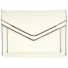 V By Very Double Bar Envelope Clutch Bag ($18) ❤ liked on Polyvore featuring bags, handbags, clutches, envelope clutch, white clutches, pu handbags, white envelope clutch bag and envelope clutch bags