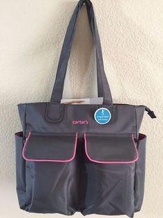 46c290efcaca6 Carter s Multi-use Tote Diaper Bag Grey Pink women 12.5