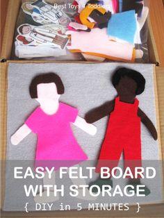 DIY Easy Felt Board with Storage for Felt Sets, make it in under 5 minutes!