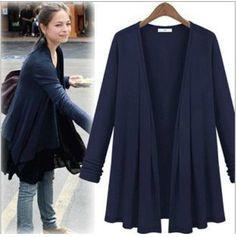 Sweaters 2014 Women Fashion Long Cardigans Women Long Sleeve Outwear Cardigan Plus Size Europe Brand Women Clothing 4 Colors