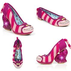'Cheshire Cat' and 'Cheshire Flat' Limited edition Irregular Choice - Alice in Wonderland collection appearing in stores worldwide soon… #IrregularAlice